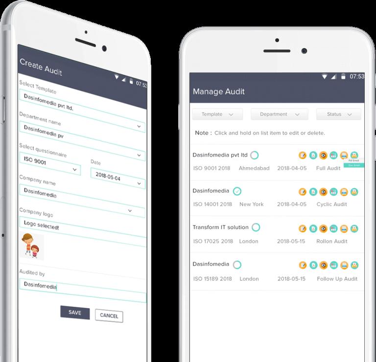Internal and External Audit Management, iOS audit app